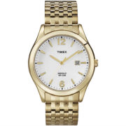Timex® Mens Gold-Tone Expansion Band Watch