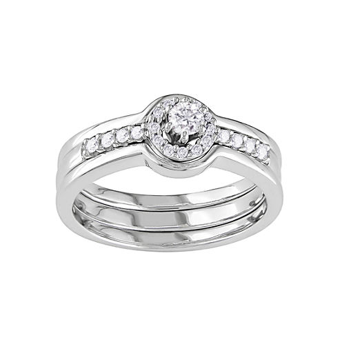 1/4 CT. T.W. Diamond Bridal Ring Sterling Silver
