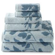 Liz Claiborne Jacquard Bath Towels