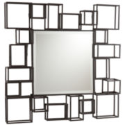 Geometric Square Wall Mirror