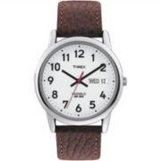 Timex® Men's Brown Leather Strap Watch