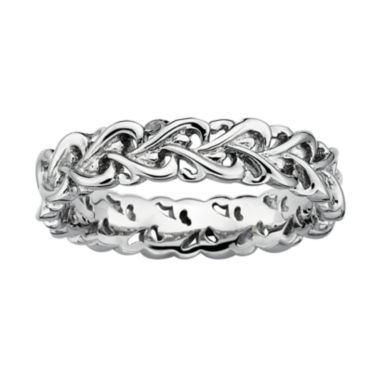 jcpenney.com | Personally Stackable Sterling Silver Intertwined Hearts Ring