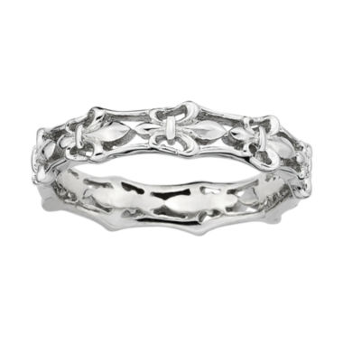jcpenney.com | Personally Stackable Sterling Silver Fleur-De-Lis Ring
