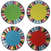 Certified International Santa Fe Set of 4 Dessert Plates