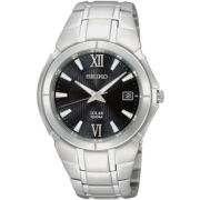 Seiko® Mens Round Solar Watch