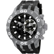 Invicta® Mens Black & Gray Watch