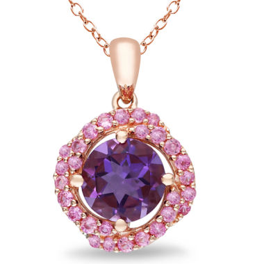 jcpenney.com | Genuine Amethyst and Pink Sapphire Pendant Necklace