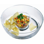 Michelangelo Collection By Luigi Bormioli Break-Resistant Chip 'n Dip Server