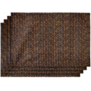 Bamboo Basket Set of 4 Placemats
