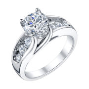 Diamonore™ 2.7 CT. T.W. Simulated Diamond Ring