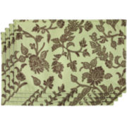 Floral Swirl Placemats - Set of 4