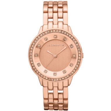 jcpenney.com | Liz Claiborne® Womens Rose-Tone Watch with Crystals