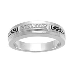 Mens Diamond-Accent Band
