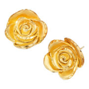 14K Gold-Over-Sterling Silver Rosebud Earrings