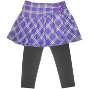 Arizona Purple Plaid Skeggings - Girls 4-16