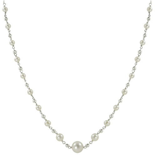 Cultured Freshwater Pearl & Sparkle Bead Necklace