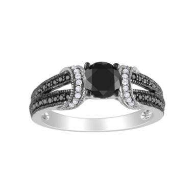 jcpenney.com | 1 CT. T.W. Black & White Bridal Ring In 10K White Gold