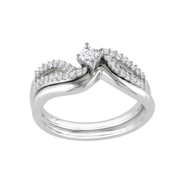 jcpenney.com | 1/4 CT. T.W. Diamond Bridal Ring Set-Silver