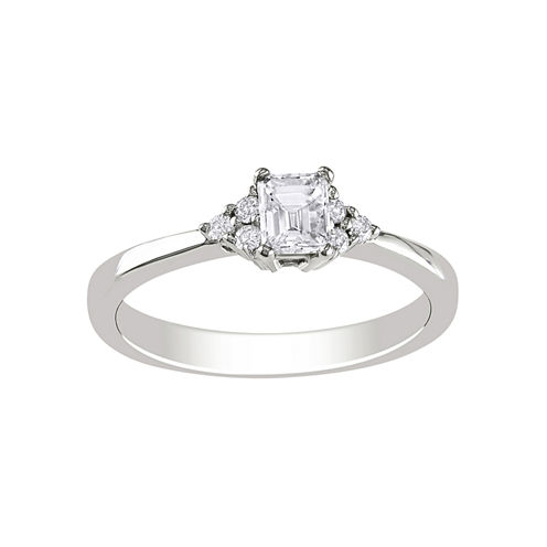 1/2 CT. T.W. Emerald-Cut Diamond Bridal Ring In 14K White Gold