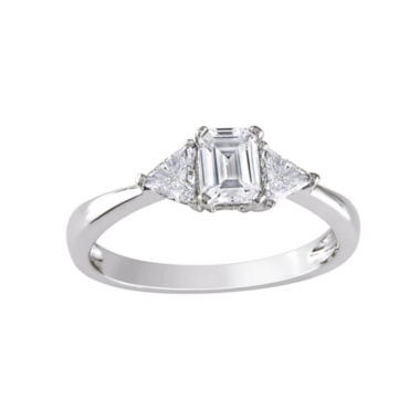 jcpenney.com | 3/4 CT. T.W. Emerald-Cut Diamond Bridal Ring 14K White Gold