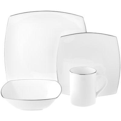 mikasa couture platinum 4pc bone china place setting