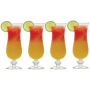 Barmasters Set of 4 Hurricane Glasses
