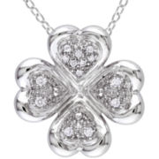 1/10 CT. T.W. Diamond Clover Pendant