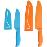 Farberware® 4-pc. Resin Santoku Knife Set