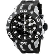 Invicta® Mens Black & Silver-Tone Watch