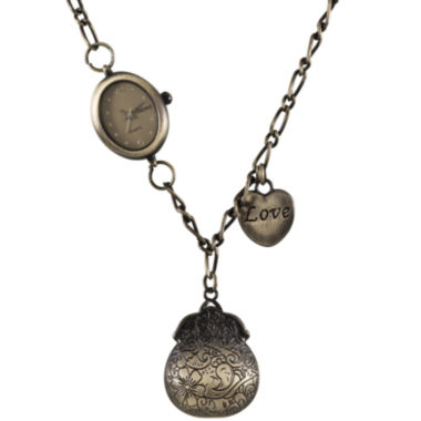 jcpenney.com | Decree® Charm Pendant Necklace Watch
