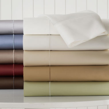 jcpenney.com | Royal Velvet® 400tc WrinkleGuard™ Sheet Set