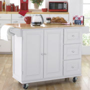 Sundance Extendable Rolling Kitchen Cart with Towel Rack