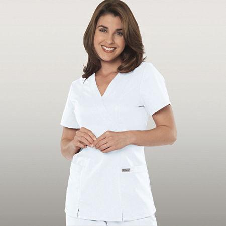 Grey's Anatomy Womens Scrubs, Mock Wrap Top - Plus