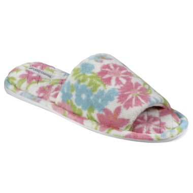 jcpenney.com | Dearfoams® Terry Open-Toe Scuff Slippers