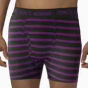 Stacy Adams® Striped Boxer Briefs
