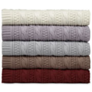 Royal Velvet® Cotton Cable Knit Throw