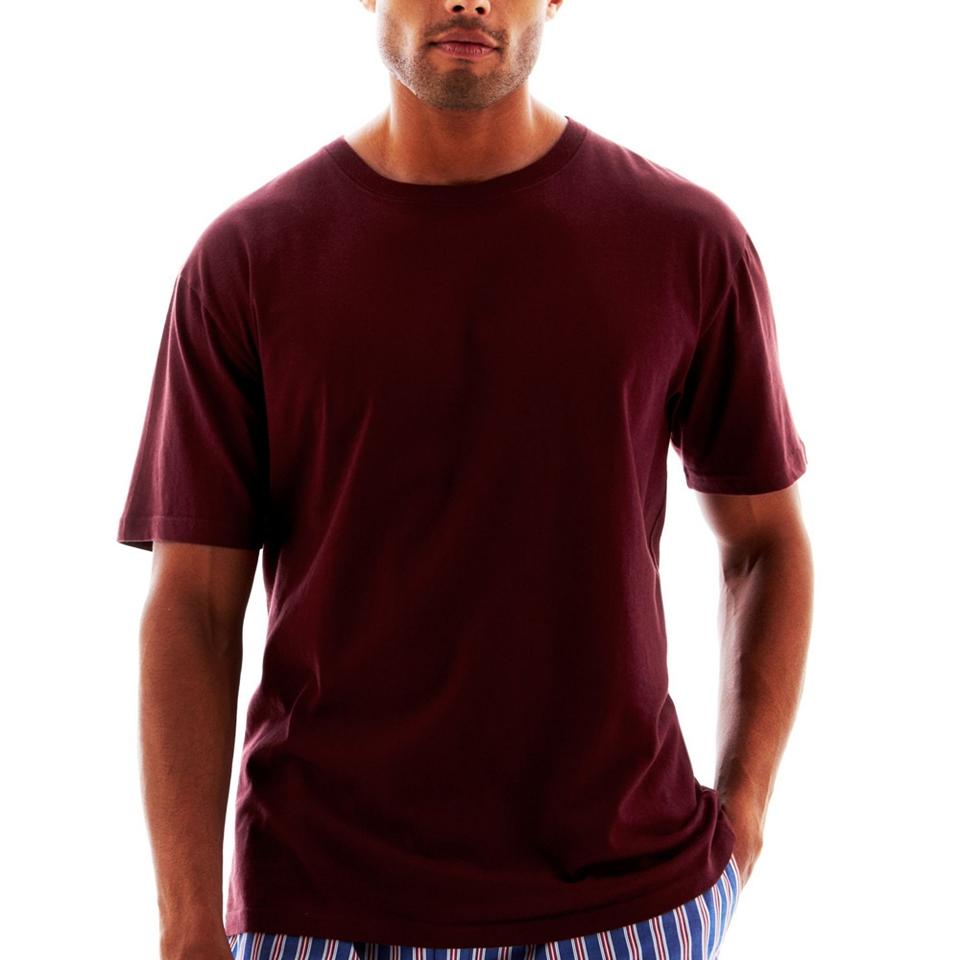 Stafford cotton lightweight color crewneck t shirt big and for Stafford big and tall shirts