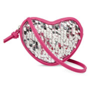 On the Verge Girls Sequin Heart Crossbody Purse