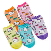 Hello Kitty® 5-pk. No-Show Socks - Girls