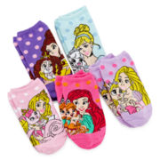 Pretty Pets 5-pk. No-Show Socks - Girls