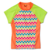 Angel Beach Chevron Rash Guard - Girls Plus