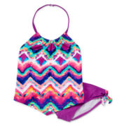 Angel Beach 2-pc. Tie Dye Chevron Tankini Swimsuit – Girls 7-16