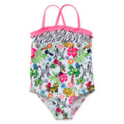 Angel Beach Jungle 1-pc. Swimsuit - Girls 2t-5t
