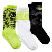 Nike® 3-pk. Graphic Crew Socks