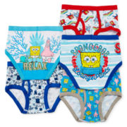 Spongebob 5-pk. Briefs - Boys 4-8