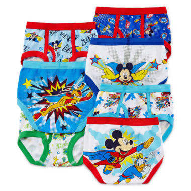 jcpenney.com | Mickey Mouse 7-pk. Briefs - Toddler Boys 2t-4t