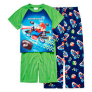 Super Mario Kart 3-pc. Pajama Set – Boys 4-10