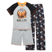 Jelli Fish Kids 3-pc. Basketball Pajama Set – Boys 4-16