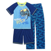 Jelli Fish Kids 3-pc. Totally Rad Pajama Set - Boys 4-16