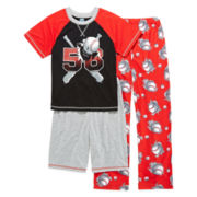 Jelli Fish Kids 3-pc. Baseball Pajama Set - Boys 4-16